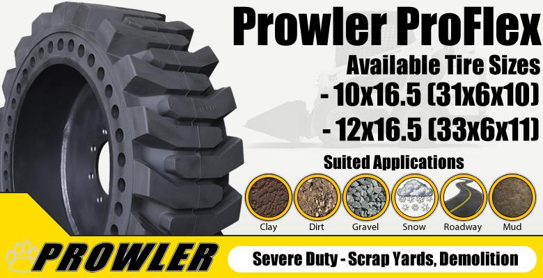 Prowler Solid Skid Steer Tires