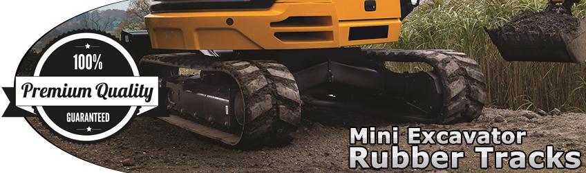 Premium Grade Rubber Tracks for Mini Excavators