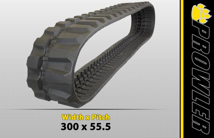 300x55.5 Offset Excavator Track